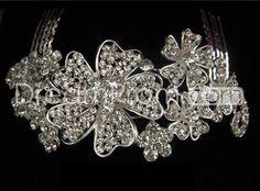 Glamorous+Flower+Shaped+Alloy+with+Rhinestone+Wedding+Bridal+Tiara