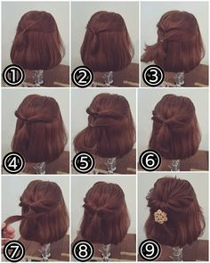 Short hairs? No problem. Here are beautiful styles for u!!