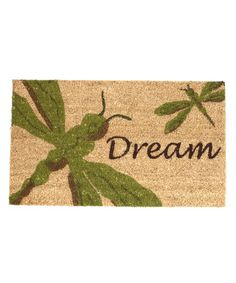 Take a look at this Dragonfly Dream Doormat by Park Designs on #zulily today!