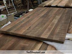 Mangolook hout tafelbladen gereed! #mangolook #mangohout #oak #eikenhout #tafel #tafelblad #interieur #interior #robuust #wonen #kantoor #horeca #wonen #woontrends #inspiratie #inrichting #vtwonen #home #homedeco