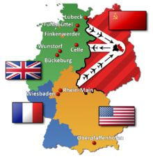 THE BERLIN BLOCKADE (24 June 1948 – 12 May 1949) was one of the first major international crises of the Cold War. During the multinational occupation of post–World War II Germany, the Soviet Union blocked the Western Allies' railway, road and canal access to the sectors of Berlin under Allied control. Their aim was to force the western powers to allow the Soviet zone to start supplying Berlin with food and fuel, thereby giving the Soviets practical control over the entire city.