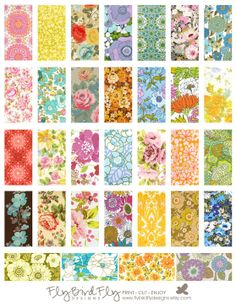 1 x 2 Domino Tiles Digital Collage Print by flybirdflydesigns, $3.75 Altered dominos for magnets
