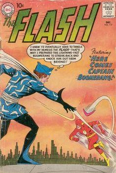 1960 DC Comics The Flash # 117 Captain Boomerang VG Condition Does not apply for sale online Comic Book Villains, Dc Comic Books, Comic Book Covers, Flash Comics, Dc Comics, Mad Cap, Captain Boomerang, Silver Age Comics, Classic Comics