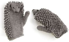 morehouse farm | hedgehog mittens knit kit (via http://aestheticoutburst.blogspot.com/2012/11/high-five.html)