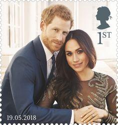 Royal Mail stamps Prince Harry and Meghan Markle royal wedding, 19 May 2018 Meghan Markle, Uk Stamps, Us Actress, Commemorative Stamps, Prinz Harry, Elisabeth Ii, Postage Stamp Art, Princesa Diana, Prince Harry And Meghan