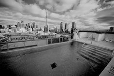 Rebecca and Robbie's rooftop wedding at Thompson Toronto