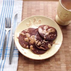 Chocolate Almond Butter Banana Protein Pancakes by malika on #kitchenbowl