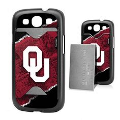 Oklahoma Sooners Galaxy S3 Credit Card Case