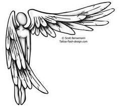 Angel With Wing Out Tattoo Design Ideas One