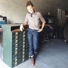 Gamine company's womens' workwear jeans - re-enforced and stylish. About bloody time!!