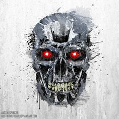 Výsledek obrázku pro terminator skull