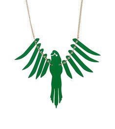 Emerald Parakeet Necklace