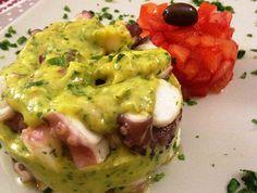 Polpo guacamole e brunoise di pomodorini | Food Loft - Il sito web ufficiale di Simone Rugiati