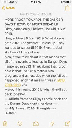 IMPORTANT INFO TO ADD ONTO THE DANGER DAYS THEORY ABOUT MCR'S BREAK UP Also excuse my typo *get sorry this is what happens at 12 am when you're trying to get to sleep and have these thoughts