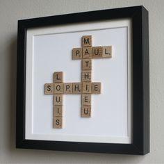 Encadrée Scrabble Arbre Généalogique (petit modèle) : Autres art par ateliergreen