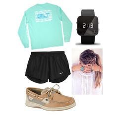 Last day of school ❤️ by ambertebbe on Polyvore featuring polyvore, fashion, style, Vineyard Vines, NIKE, Sperry Top-Sider and 1:Face