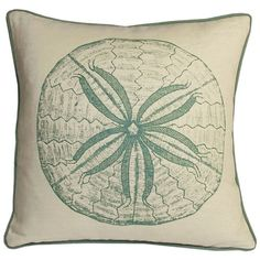 Easy to replicate with an iron on in the right color.   South Pacific Pillow - Style Study: Maritime Chic on Joss and Main