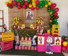 Bear Birthday, Unicorn Birthday Parties, Birthday Party Themes, 2nd Birthday, Marsha And The Bear, Bear Party, Tropical Party, Ideas Para Fiestas, Party Time