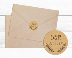 Personalised Wedding Envelope Kraft Sticker Seal- Wedding, Wedding Sticker, Envelope Seal, Bridal Shower, Favour Box by happymailstudio on Etsy