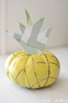 Create a simple Pineapple Pumpkin @sunshineburton