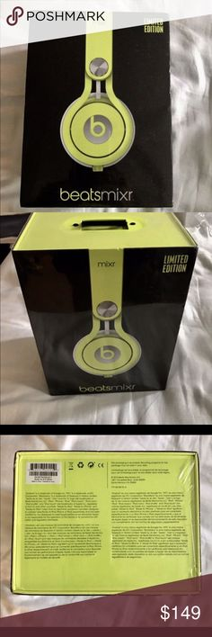 Beats MIXR Beats MIXR in Neon Yellow (not wireless), brand new in sealed box! Sorry NO TRADES!! Accessories