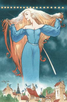 Stardust, by Neil Gaiman - illustrated by Charles Vess Comic Kunst, Comic Art, Comic Books, Archie Comics, Dc Comics, Stardust Neil Gaiman, The Graveyard Book, Fanart, Pop Culture Art