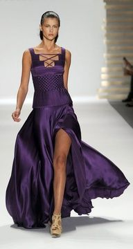 Weddings   Purple Haze - Georges Chakra Spring 2011 - #weddings #purple #bridal #gowns #designer