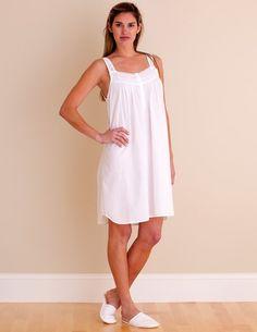 i-Smalls Ladies Breathable Lace Strap Victorian Design Nightdress