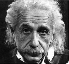 "Albert Einstein. The ""m"" in E=mc² stands for ""mustache."" #mustache"