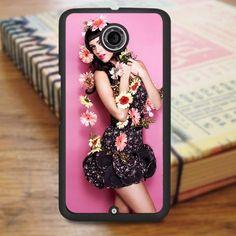 Katty Perry Beautiful Flowers Nexus 6 Case