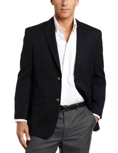 Men's #Fashion #Clothing: Jackets, Coats, and Blazers:  Haggar Men's Solid Two Button Center-Vent Sport Coat: Clothes