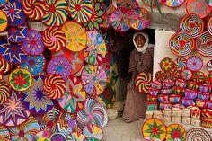 colorful market in Ethiopia.