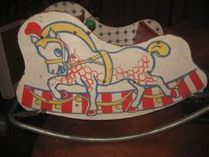 Vintage Rocking Horse Spring Rocker/Chair Toy - 1950's #Unknown