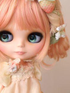 Lil' Strawberry Blythe Doll  #doll #blythe #pink