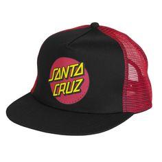 19e0a6b318e Santa Cruz Classic Dot Trucker Hat - Black Red