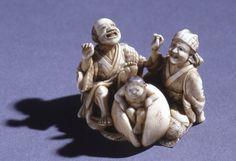 Netsuke: Momoaro Emerging from a Peach Japan The British Museum
