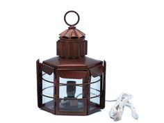 """Antique Copper Clipper Electric Lamp 11"""""""
