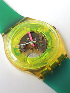 Rare Swatch Watch Techno Sphere neon by CoolRelics Techno, Peter Pan Syndrome, Swatch, Lightning Bolt, Second Hand, Vintage, Etsy, Clocks, Nostalgia