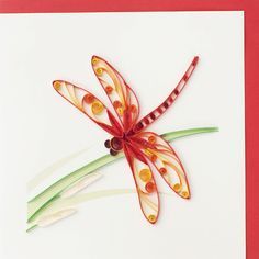 Dragonfly 6x6 card $7.00