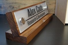 Personalized Desk Name Sign Office Nameplate makes a by GaroSigns, $29.99