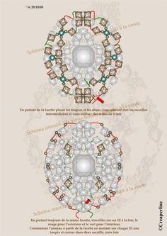 MARJERIDE - FREE Ring Pattern by Mu. Page 2/2. Step 1 on this page: if you use 4mm strass/montées you can omit the seed beads between the strass and the bicones.