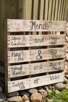 Wooden Menu Sign | Katelyn James Photography | Theknot.com