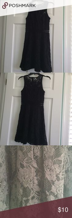 Reduced! 🎄Black lace dress With see through waistline Dresses Midi