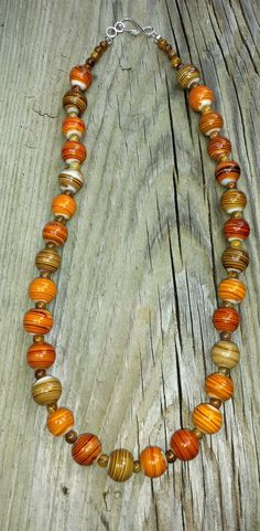 Amber Swirl Necklace by CinsWhims on Etsy, $23.00