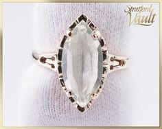 Items similar to Vintage ~ Light Green Spinel Right Hand Ring ~ Yellow Gold ~ 15 x 7 Marquise Shape Faceted Synthetic Spinel ~ ~ GIA ~ on Etsy Right Hand Rings, Marquise Cut, Vintage Lighting, Beautiful Gift Boxes, Lab, Jewels, Shape, Free Shipping, Yellow