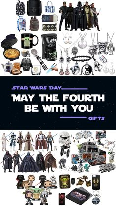 Gift Guide for celebration of May the Fourth - What to get your friends / fans of Star Wars. Star Wars Gift Ideas for everyone. Make any Star Wars fan happy with these merchandise items. Perfect gifts for Star Wars Day that is celebrated on May the 4th. Items fall in these categories: Lego, toys, clothes, jewelry, action figures (black series, funko), kitchen items, accessories, bathroom, bedroom, home decorations, art, costumes, stationary, diy crafts & party. | May the 4th be with you. Emperor Palpatine, Star Wars Books, Star Wars Quotes, Star Wars Day, Lego Toys, Ahsoka Tano, Star Wars Gifts, Anakin Skywalker, Black Series