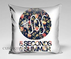 5Sos 5 second of summer floral logo cute pillow cases
