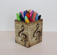 Music note decorations home decor products 57 Ideas Music Notes Decorations, How To Make Coasters, Arte Country, Desk Tidy, Handmade Home Decor, Etsy Handmade, Music Jewelry, Gift For Music Lover, Shadow Box Frames
