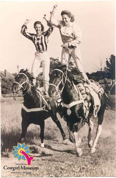 Tad Lucas with daughter Mitzi Lucas Riley. Photo courtesy of the National Cowgirl Museum and Hall of Fame.