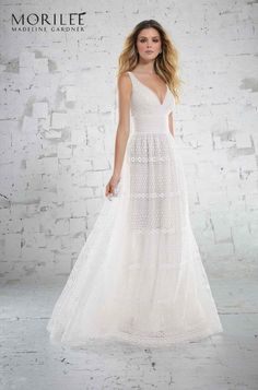 Soft, English Net Wedding Dress Featuring a High Halter Bodice Accented with Diamanté Beaded Embroidery. An Open Keyhole Back Completes the Look. Shown in Smoky Lavender Luxury Wedding Dress, Bridal Wedding Dresses, Wedding Dress Styles, Designer Wedding Dresses, Bridesmaid Dresses, Wedding Fun, Unusual Dresses, Different Dresses, Types Of Dresses